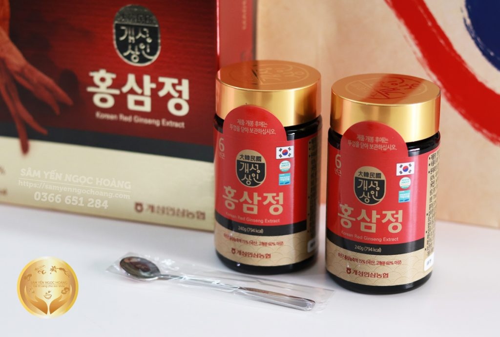 Cao Hồng Sâm Nonghyup Hàn Quốc Hộp 240g x 2 Lọ (480g) - Sâm Yến Ngọc Hoàng